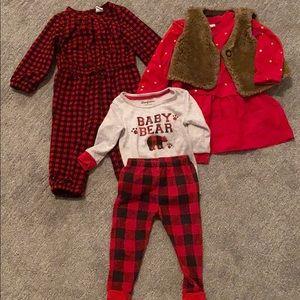 Holiday baby girl bundle